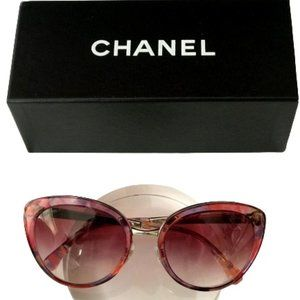 NWOT Chanel 4208 Butterfly Sunglasses Pink Floral